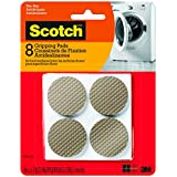 Scotch Gripping Pads, Round, Brown, 1.5-Inch Diameter, 8 Pads/Pack (SP940-NA)