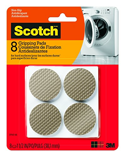 Non Skid Furniture Pads (Scotch Gripping Pads, 8 Pads/Pack, Round, Brown, 1.5