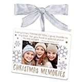 Lighthouse Christian Products Christmas Memories Metal Ornament Frame, White