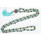 Yoga Gift- Rudraksha Navgraha 9 Chakra Stone Multi-gemstone Necklace , Om Magnificence Pandant