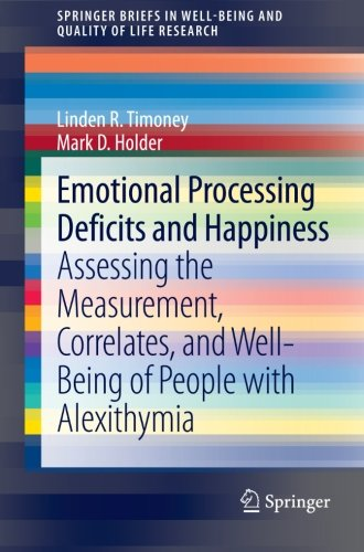 Emotional Processing Deficits and Happiness: Assessing the Measurement, Correlates, and Well-Being of People with Alexithymia (SpringerBriefs in Well-Being and Quality of Life Research)