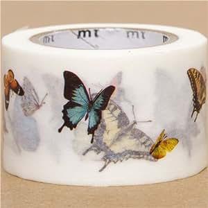 Cinta adhesiva decorativa washi ancha con mariposas mt for Bordi adesivi decorativi
