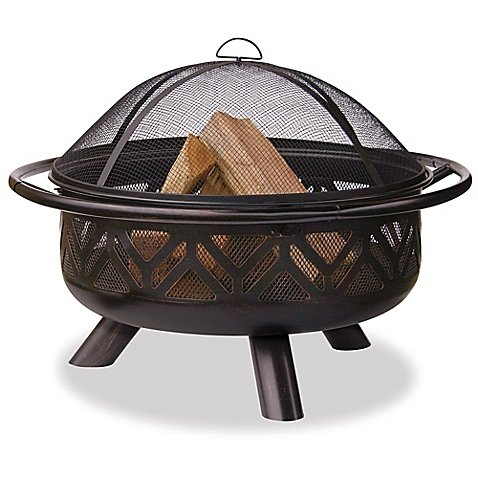 Uniflame Outdoor Firebowl (UniFlame 36-Inch Outdoor Steel Firebowl in Oil Rubbed Bronze)