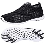 ALEADER Men's Quick Drying Aqua Water Shoes Black 14 D(M) US