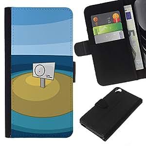 HTC Desire 820 - Dibujo PU billetera de cuero Funda Case Caso de la piel de la bolsa protectora Para (You Are Here)