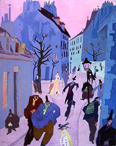 Lyonel Feininger in a Village Near Paris (Also Known as Street in Paris, Pink Sky) 1909 University of Iowa Museum of Art 30