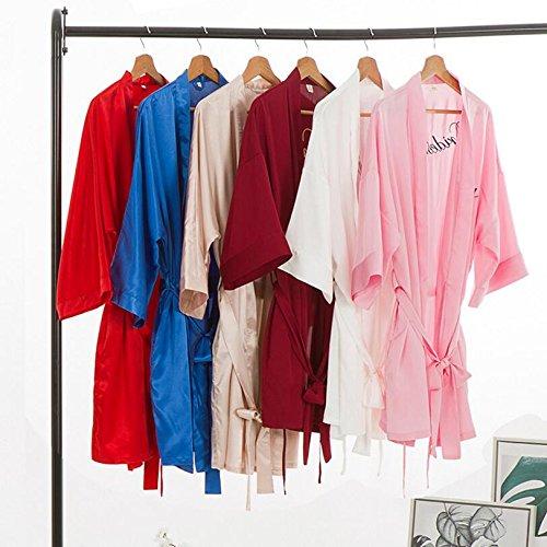 Wanyne Robes -dressing Avec Cardigan Robe Mariées Robe De Sangle De Chambre Peignoir Chemise De Nuit (couleur: Rouge, Taille: M) Rouge