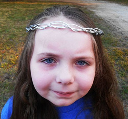 Silver Wire Wrapped Elven Tiara, Elf wedding tiara, Costume Crown, Renaissance style Tiara