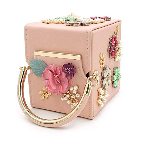 Party Ladies Purses Evening New ON Brand Flower Box Women Bags Day Design Clutches Royalblue Purse Rising Pearl Wedding Clutch Bag 17qvx6CCn