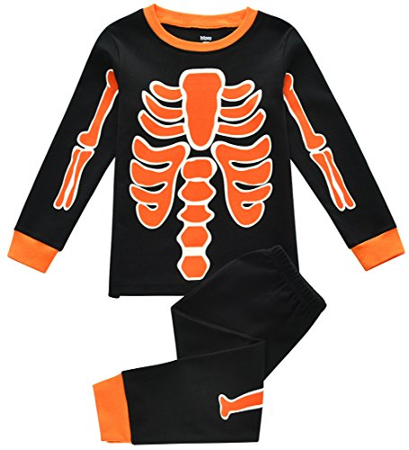 Toddler Boy Pajamas, Kid's PJ's Sets, Boys 100% Cotton Long Sleeved Sleepwear in Sizes from 12-24 Months to 7 Years (4T, Skeleton Dance)