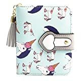 Timlee Cute Fashion Cartoon Rainbow Unicorn Design Short Clutch Purse Wallets (Light Blue)
