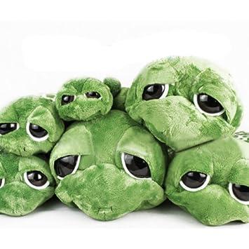 Ojos grandes encantadores de la tortuga de peluche rellenos Green Turtle juguete de regalo (20