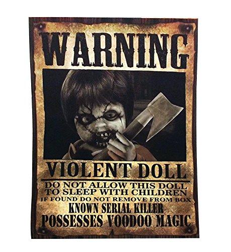 Spooky Halloween Warning Beware Signs - Pack of 4