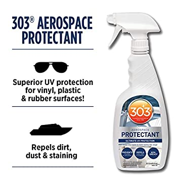 Image of 303 (30306-6PK) Marine UV Protectant Spray for Vinyl, Plastic, Rubber, Fiberglass, Leather & More – Dust and Dirt Repellant - Non-Toxic, Matte Finish, 32 fl. oz., (Pack of 6) Cleaners