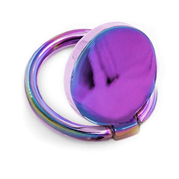 new styles eb317 f2cac Casery Oil Slick Phone Ring - 360° Rotation, Universal Phone Grip, Adhesive  Kick Stand - Compatible with iPhone 7, 8, 8 Plus, X, XR, XS MAX, and More