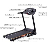 Gymax 2.5HP Folding Treadmill Electric Incline Jogging Running Fitness Machine w/App Control, Large LCD Display, Black