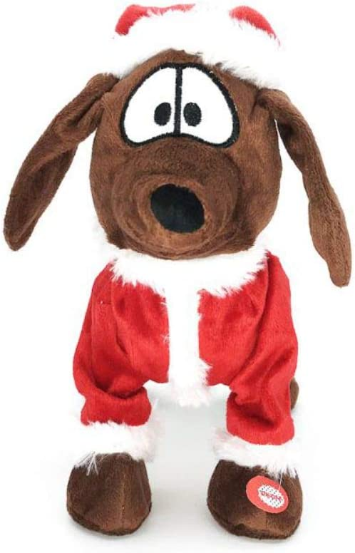 Not Excluded Batteries Plush Toy Dog Doll Sherine Cute Electric Pets Toy Music Christmas Dog Realistic Dancing/&Walking Actions