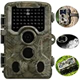 Trail and Game Camera MPNETDEAL Infrared Night Vision Hunting Surveillance Digital Scouting Camera 12MP 1080P HD 65ft PIR Sensing Distance for Animal Monitoring