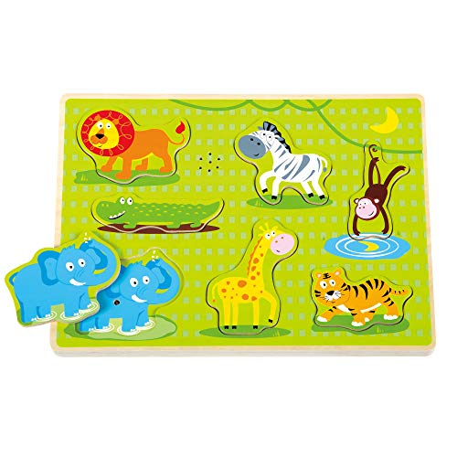 Fat Brain Toys Safari Animal Sound Puzzle
