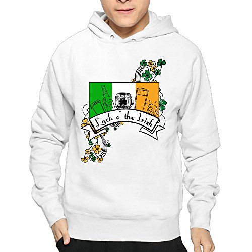 Luck 'o The Irish Mens Comfortable Hoodies Sweatshirts Sweatshirts 80's