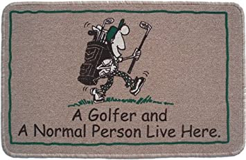 Attrayant Quadrugraphics A Golfer And A Normal Person Live Here Gift Doormat:  Amazon.co.uk: Kitchen U0026 Home