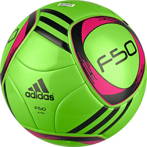5244d21f5 adidas F50 X-Ite Soccer Ball, Macaw Green/Black/Radiant Pink, 5:  Amazon.co.uk: Sports & Outdoors