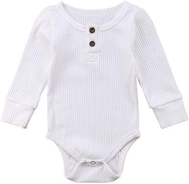 FELZ Ropa de Bebe niña niño Mameluco Mangas Largas de Verano Recién Nacido 0-24 Meses