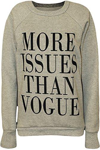 PaperMoon Women's More Issues Than Vogue Sweatshirt - Light Gray - US 4-6 (UK 8-10)