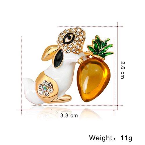 cappotto spilla Kentop Spilla da donna a forma di coniglio accessorio per gioielli spilla decorativa camicia decorativa