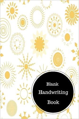 Blank Handwriting Book: Worksheet For Kindergarten Writing. Handy ...