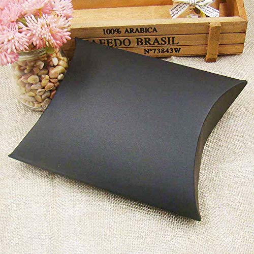High Quality | Gift Bags & Wrapping Supplies | 100Pieces/lot Kraft/Black/White Pillow Shape Wedding Favor Gift Box Party Candy Box Wholesales Pillow Boxes | by HeroBar991]()