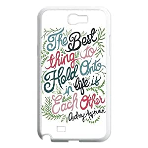 Audrey Hepburn Quote Unique Design Cover Case with Hard Shell Protection for Samsung Galaxy Note 2 N7100 Case lxa#904384