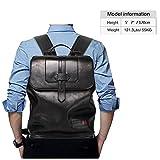 BISON DENIM Leather Laptop Computer Backpack
