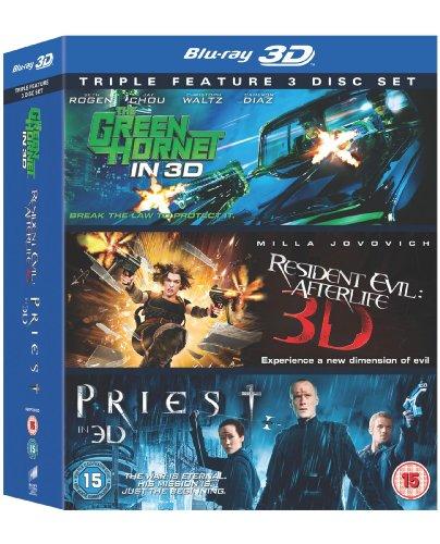 Green Hornet / Priest / Resident Evil - Afterlife (3D) [BLU-RAY]