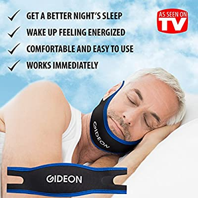 """Gideonâ""""¢ Adjustable Anti-Snoring Chin Strap - Natural and Instant Snore Relief - Stop Snoring Solution - Natural, Fast and Simple"""