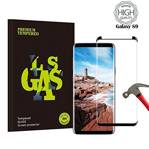 Samsung Galaxy S9 Panzerglas Schutzfolie, Guanzer Hohe Qualität 3D Displayschutzfolie [9H Härtegrad] [Ultra Klar] [Anti-Fingerabdruck] [Blasenfreie Installation] Gehärtetes Glas Panzerglas Folie für Samsung Galaxy S9