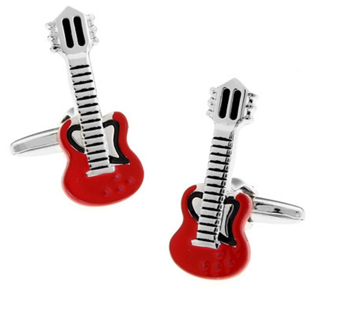 Gudeke Musique Red Guitar Boutons de manchette