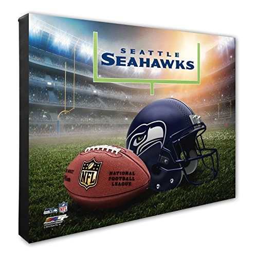 "Photo File NFL Seattle Seahawks Helmet & Stadium High Resolution Canvas, 20"" x 24"", Multicolor from Photo File"