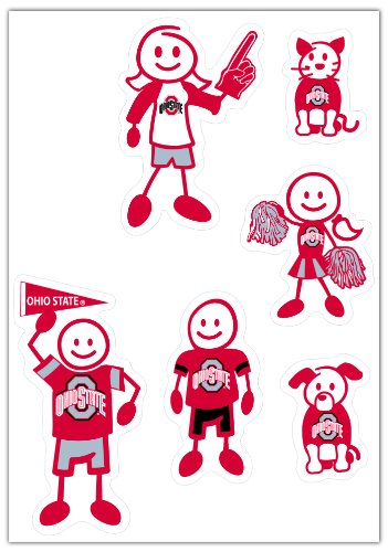 NCAA Ohio State Buckeyes Small Family Decal (Ohio Decal Set)