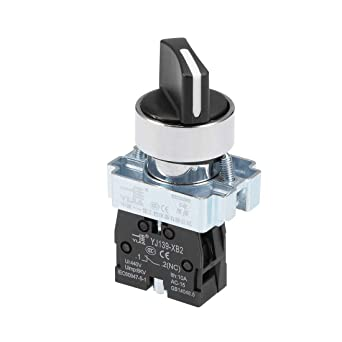 uxcell Changeover Switch 2 Position Rotary Selector Cam Switch Panel Mount 8 Terminals Latching Ue:AC 380V Ith 10A