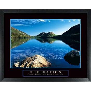 amazoncom dedication jordan pond framed motivational