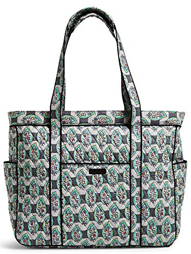 Vera Bradley Quilted Signature Cotton Get Carried Away Tote (Paisley Stripes) ...