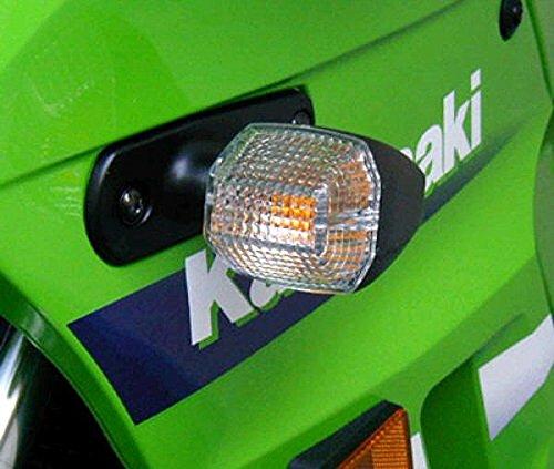 [i5 Clear Turn Signal Lenses for Kawasaki Ninja 250 500 ZZR 600 ZX6 ZX6R ZX9 ZX9R ZRX 1100 1200] (Clear Signal Lenses)
