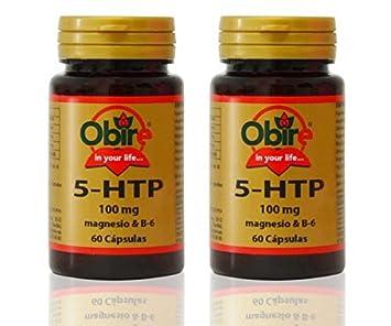 Triptofano (5 HTP 100 mg) + MAGNESIO + B6 60 cápsulas. (Pack 2 u ...