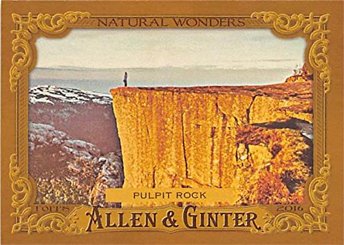 (Pulpit Rock trading card Natural Wonders 2016 Topps Allen Ginters #NW16 Norway)