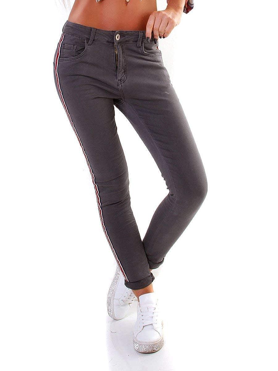 10246 Knackige Damen Jeans Röhrenjeans Hose Damenjeans Stretch-Denim Slimfit