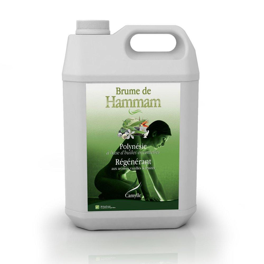 Camylle - Brume de Hammam - Emulsion d'huiles essentielles pour Hammam - Polyné sie - Ré gé né rant - 5000ml