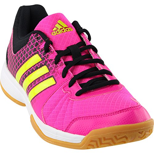 95aac0a1b930 adidas Women s Ligra 4 Shock Pink Semi Solar Slime Black Athletic Shoe