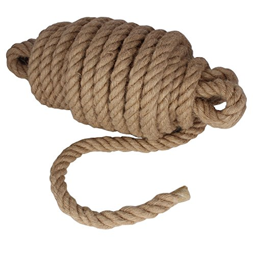 Twisted Manila Rope Jute Rope 50 Feet Natural Jute Twine Hemp Rope 1 Inch Diameter Twine Burlap Rope (Rope 1 In)