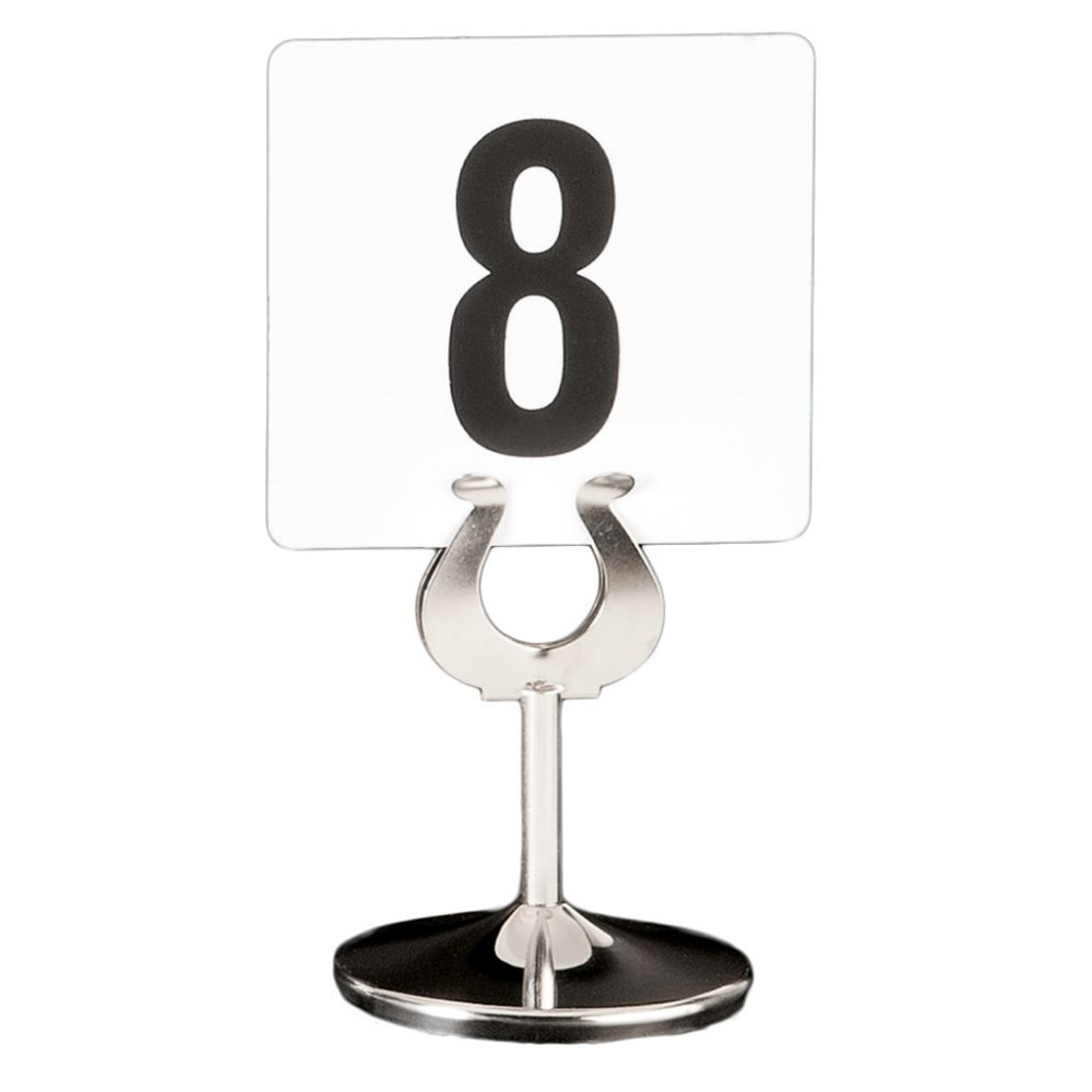 Garcia de Pou Stainless Steel Holder for Table Card Numbers, 10.2 cm, Silver, One Size